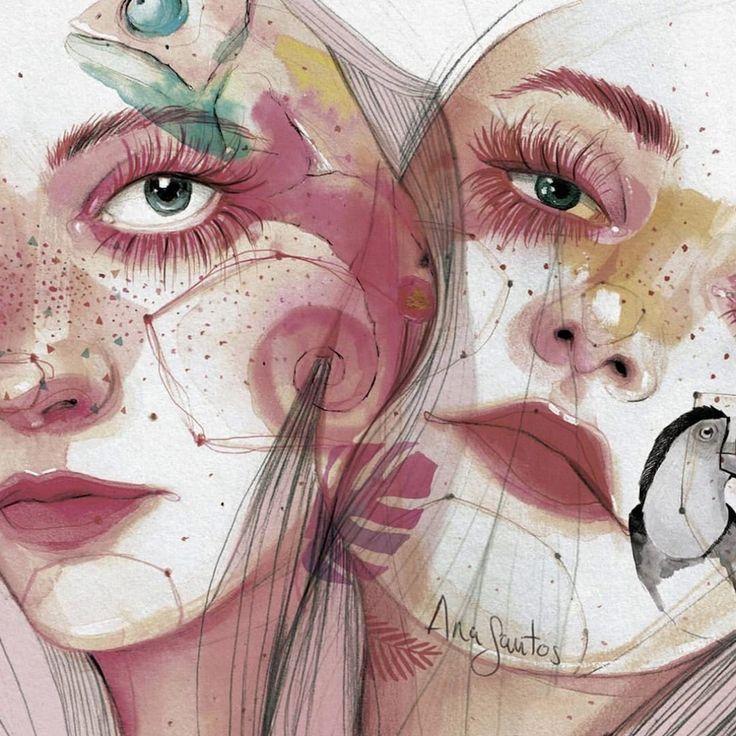 En lo más fffres.co: Ana Santos ilustra la feminidad en estado puro: De sus rostros, teñidos con constelaciones y colores pastel, asoman…