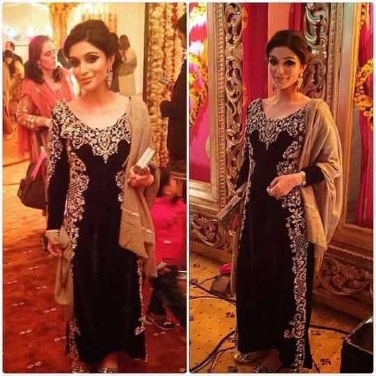 Black Embroidered Pakistani Fancy Dresses For Girls