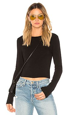 New Stateside Ribbed Crew Neck Crop Top online. Enjoy the absolute best in h:ours Clothing from top store. Sku pkdh43408iaip68931
