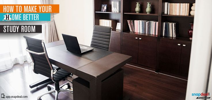 How to make your home better - Study Room  Either you are craving for the highest GPA scores or need to work on some big office project, study room is the place that keeps one motivated, focused and energized to deliver the maximum output.