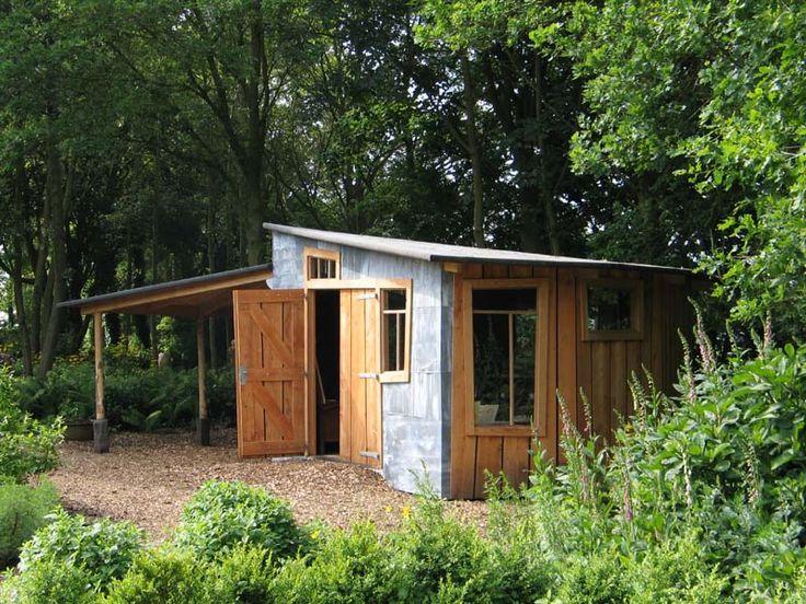 Alex den Braver, Groningen: tuinhuisje bij vijver