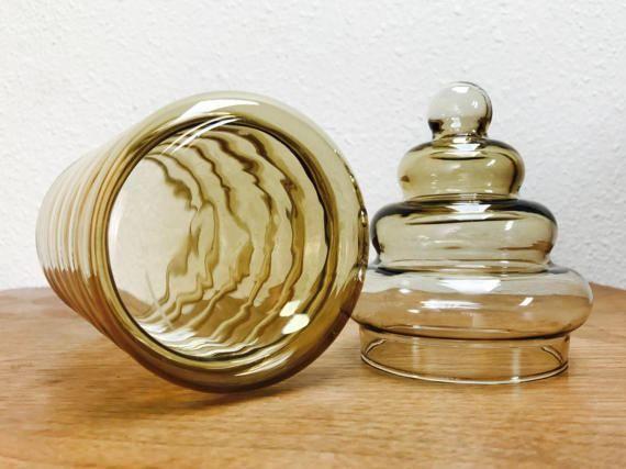 Vintage mid-century glass apothecary jar / Primula jar by Holmegaard Denmark