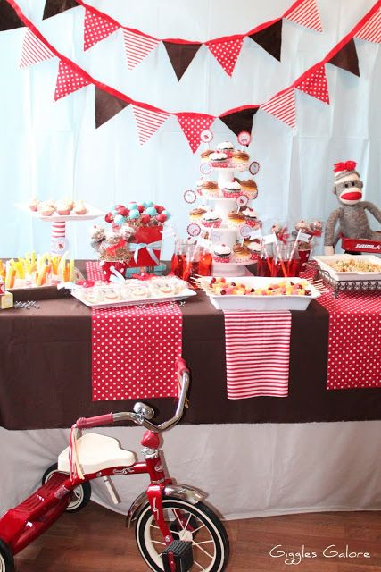 Sock Monkey {Baby Shower} - Giggles Galore