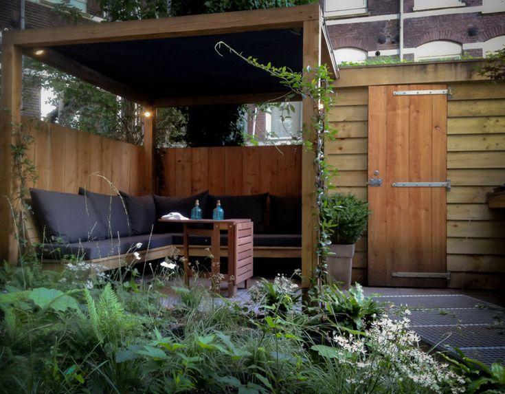 Kleine tuin tuinen pinterest tuin and met - Idee terras ...