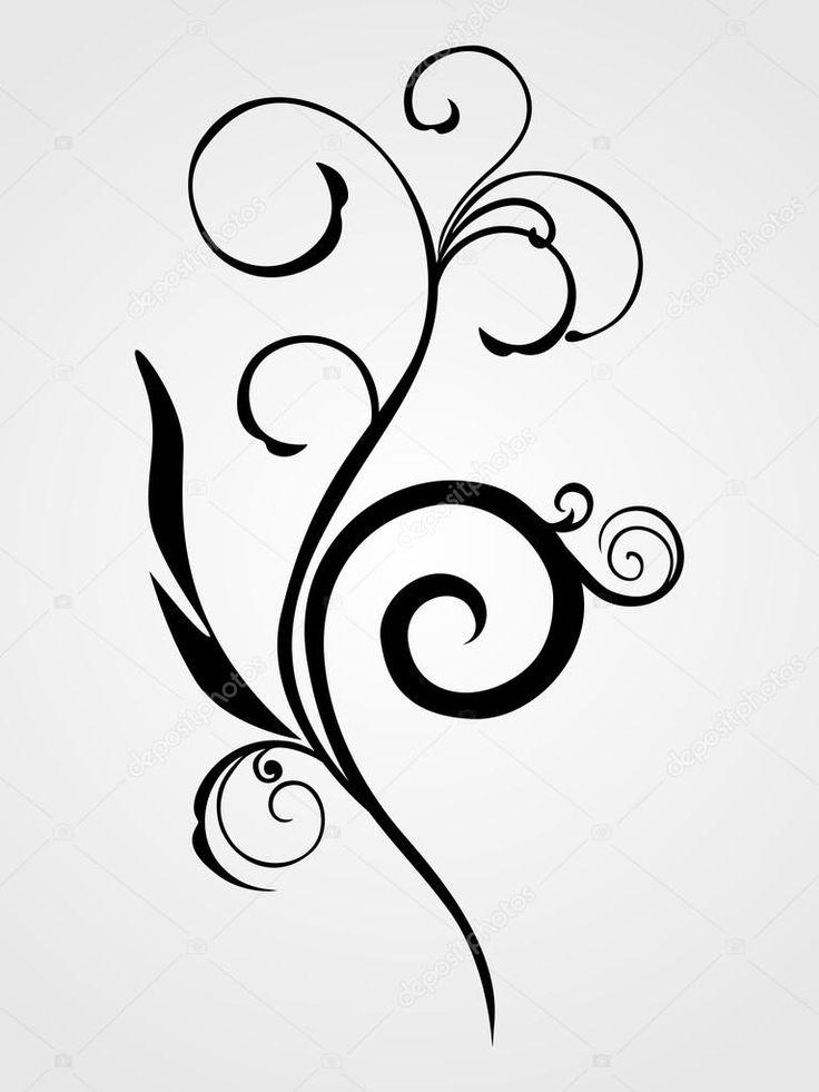 depositphotos_2517249-stock-illustration-black-floral-tattoo.jpg (767×1023)