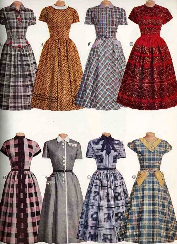 Fashions from Montgomery Ward's 1956-1957 Fall and Winter Catalog <3 ~~ *LOVE* all these dresses! :D They are just my style. ;)