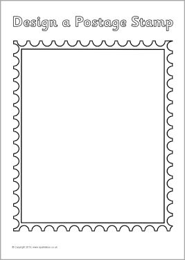 Postage stamp design sheets (SB3634) - SparkleBox