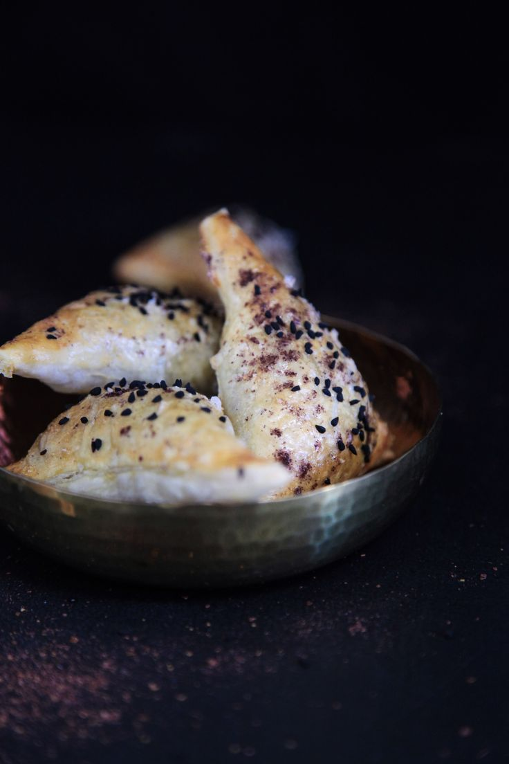 Spinach, Feta, Date Sambousek | Berries and Spice