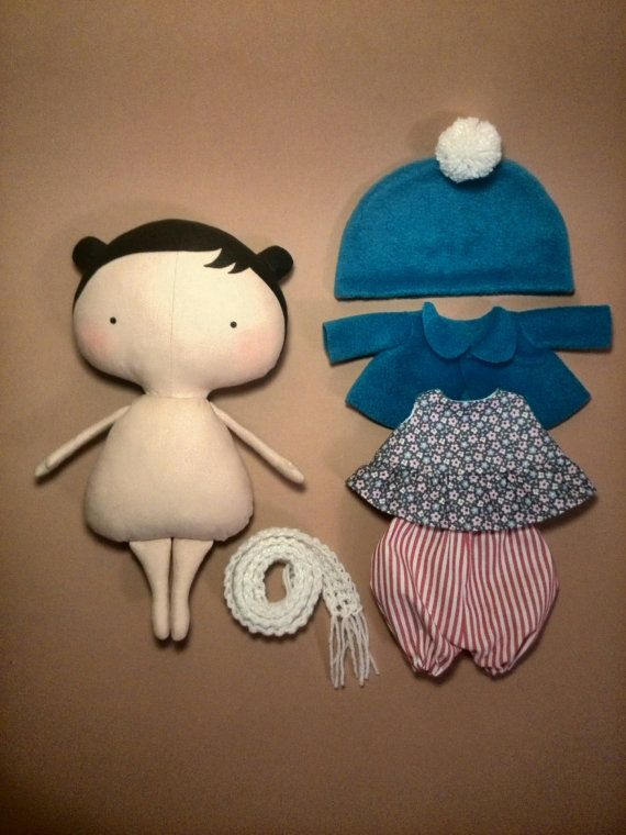 Doll clothes Tilda doll Gift for girls Rag by HandmadeToyStore