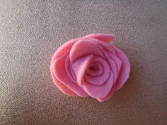 Handmade Felt Rose Brooch by RaedianceByJo on Etsy, $3.00