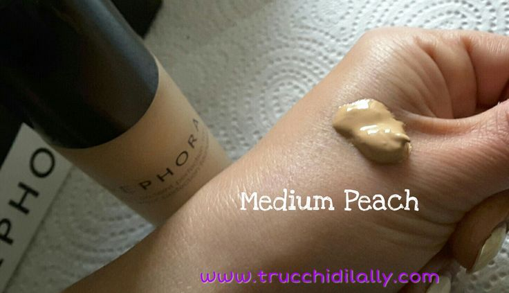 Swatch fondotinta Perfezionatore 10 ore di Sephora  25 medio pesca fondotinta  #sephora #makeup #trucco #swatch #medium #peach #beauty