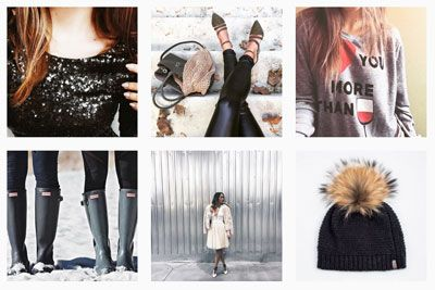 Winter wear! Sequins, fur hats, Hunter boots, tulle skirts, liquid leggings, and a love of wine... these are a few of our favourite thigns.