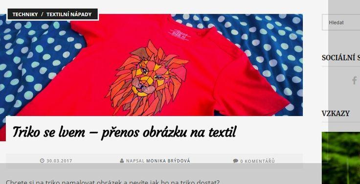 Triko se lvem - přenos obrázku na textil