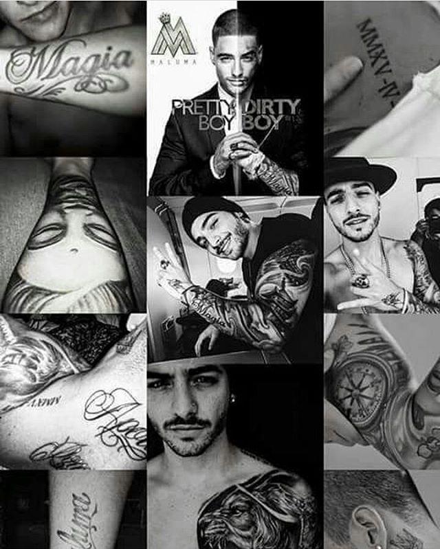 @maluma #Tatuajes 😍😍
