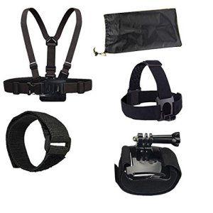 4-en-1 Accessoires Bundle Kits étanche Chest extérieure Strap + casque et autres accessoires pour Gopro 4