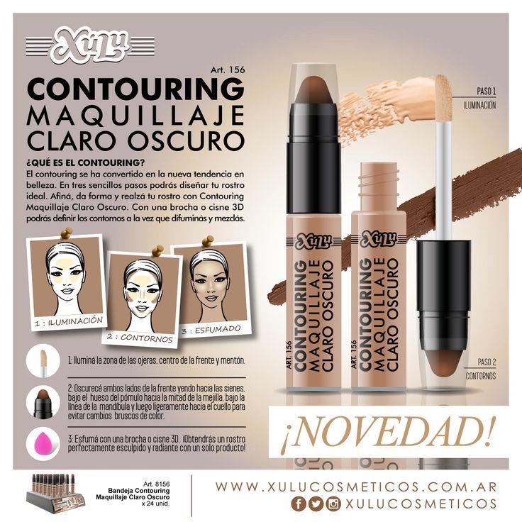 ¡Nuevo Contouring Maquillaje Claro Oscuro! Afina, da forma y realza tu rostro.