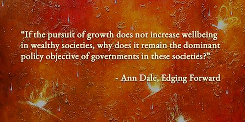In her forthcoming book Edging Forward: Achieving Sustainable Community Development, Ann Dale questions why one dominant economic model has taken over the world.