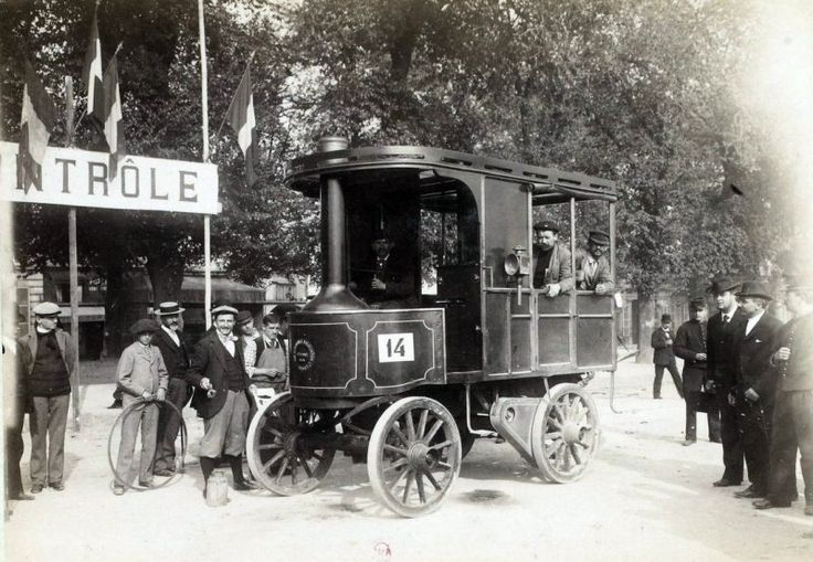 buharlı otobüslerin yarışı 1898