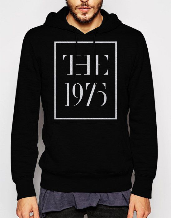 Gift+for+Men+The+1975+Logo+band+Music+Black+Hoodie+Sweatshirt