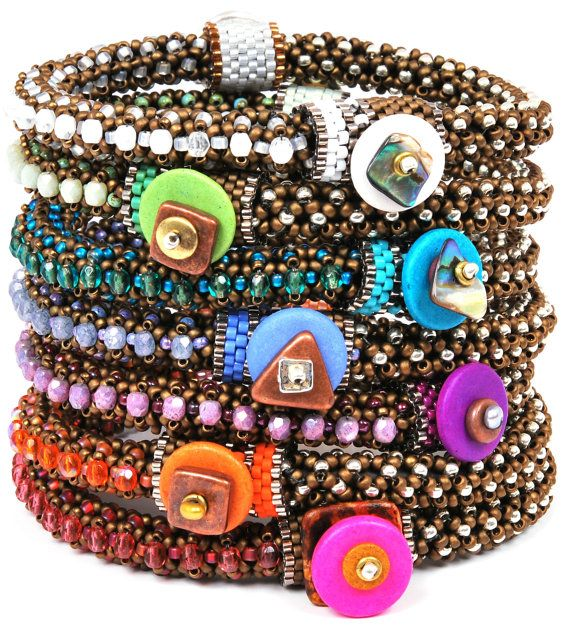 BEAD KIT ONLY-Circle of Gems Single Bracelet Kit-Bubble Gum-Pattern Sold Separately