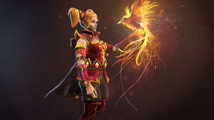 Lina - Aideen the Ember Witch Wallpaper, more: http://dota2walls.com/lina/lina-aideen-the-ember-witch-wallpaper
