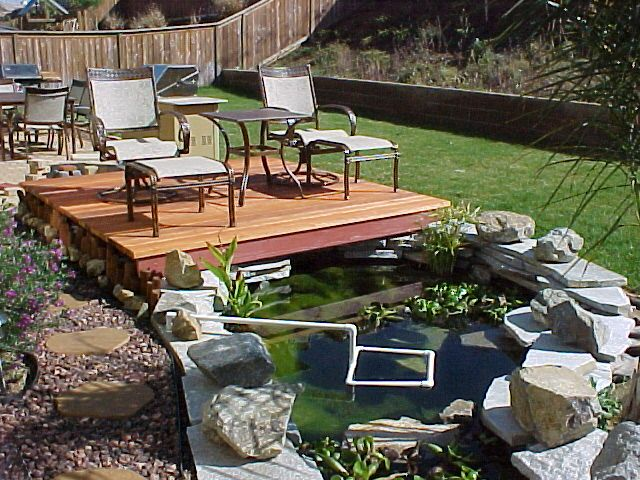 Show me your ponds with deck 39 s deck ideas pinterest for Deck pond ideas