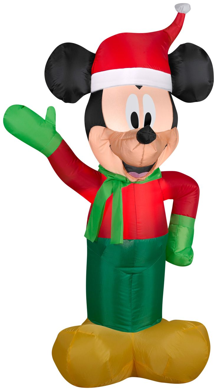 3.5' Airblown Mickey Christmas Inflatable