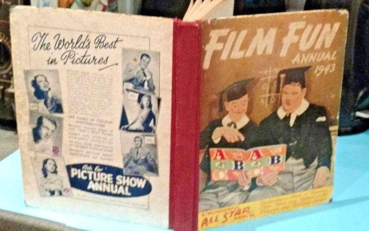 FILM FUN..War Time ANNUAL 1943...Rare ..George Formby..Buck Jones..Max Miller
