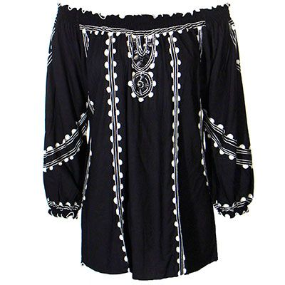 Krista Lee Embroidered Peasant Blouse at Maverick Western Wear