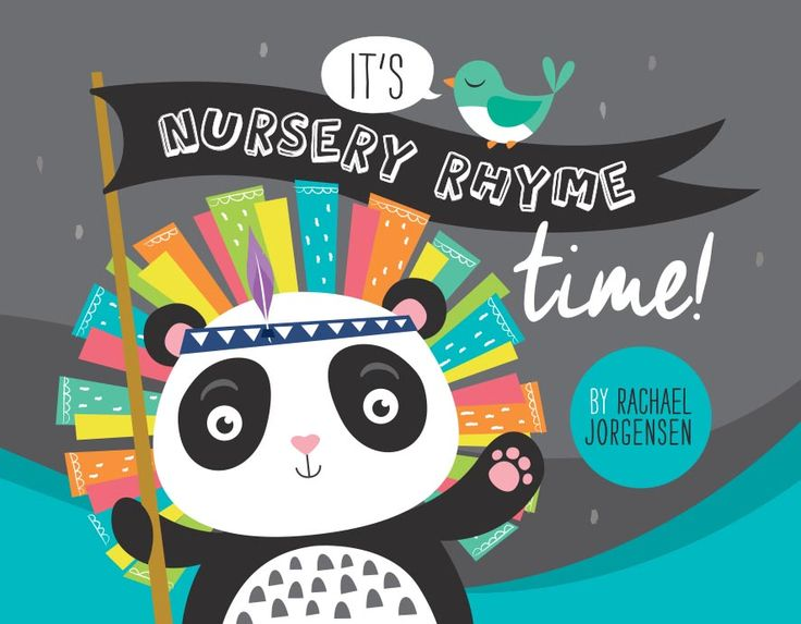 Nursery Rhyme Board Book = $22. bright Panda indian. stand out.