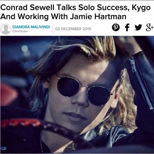 Conrad Sewell talks Jamie Hartman collab with GQ