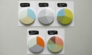 pie graph post-it notes   #piegraph #office #officesupplies #stationary