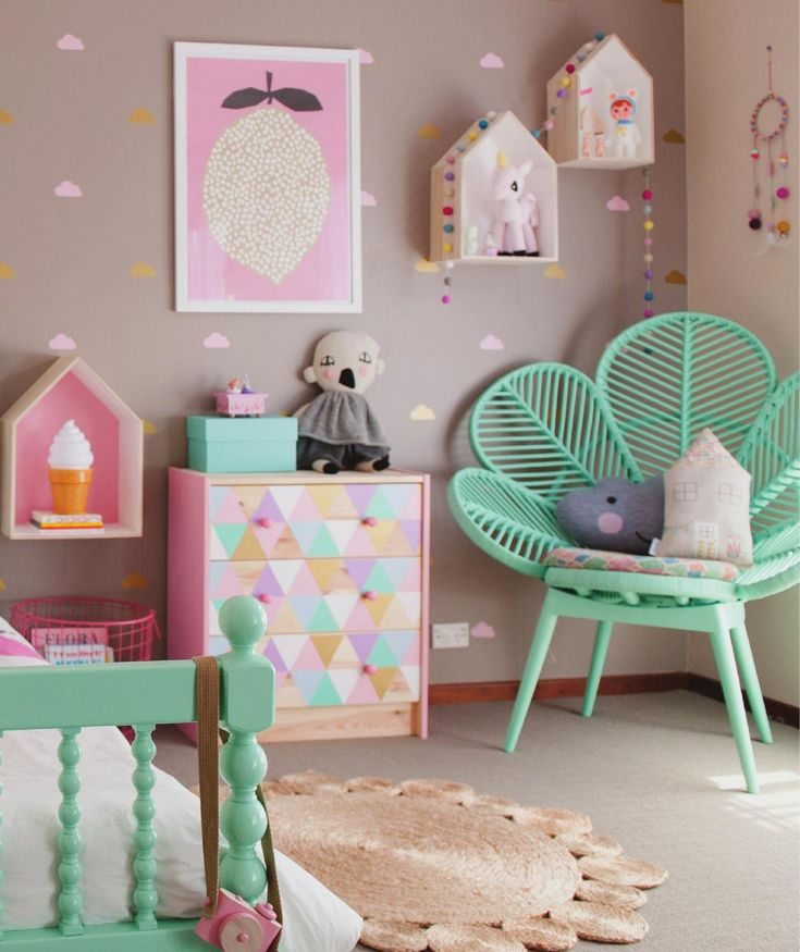 Love The Candy Colours In This Little Girl's Bedroom, Some Great Interior Design Ideas For