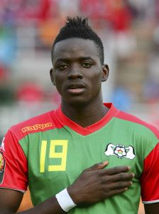 Bertrand Traore of Burkina Faso during the 2015 Africa Cup of Nations football match between Equatorial Guinea and Burkina Faso at the Bata Stadium in Bata, Equatorial Guinea on 21 January 2015 ©Barry Aldworth/BackpagePix