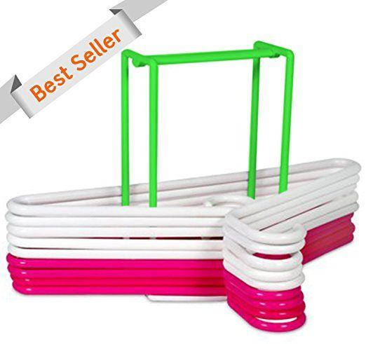 & # X2605;  De mayor clasificación # 1 y # x2605;  En percha apilador & # 153;  & # X2605;  Con capacidad para 30 apiladores de pañales & # x2605;  Ajustable & # x2605;  Mejor plástico de grado & # x2605;  Durable & # x2605;  Mantienen sin usar perchas Organizado & # x2605;  Perfecto para lavandería Habitaciones & # x2605;  El uso con secado Bastidores 689