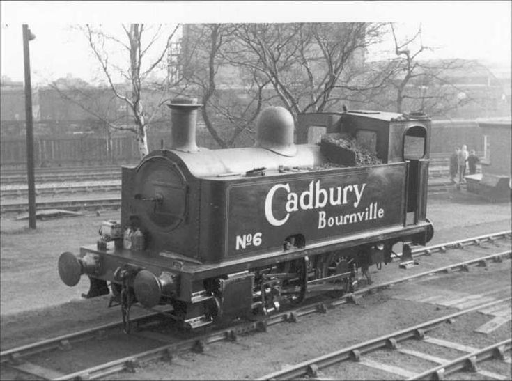 No.6 0-4-0T Avonside 1921 of 1923 it was sold in 1964.  Cadbury Chocolate steam engine.