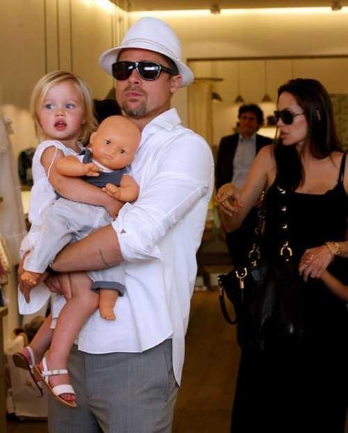 Celebrity parents Angelina Jolie and Brad Pitt