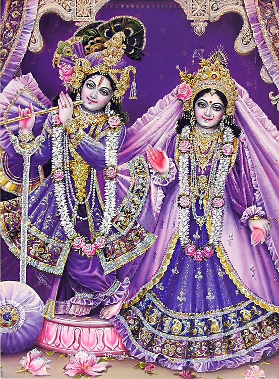 Radha Krishna - (Poster with Glitter) (Reprint on Paper - Unframed))
