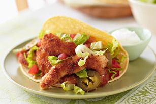 Tacos rápidos de milanesa de pollo Receta - Comida Kraft