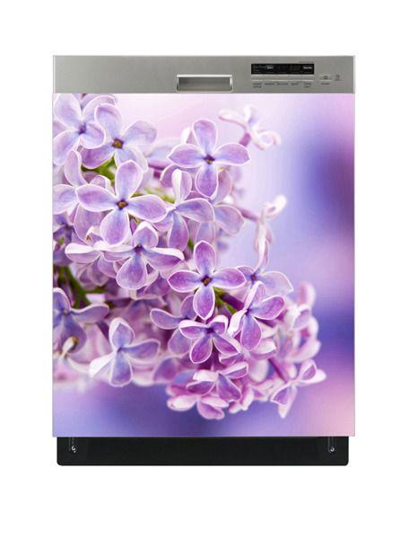 Naklejka na zmywarkę - Fioletowe kwiaty 5115