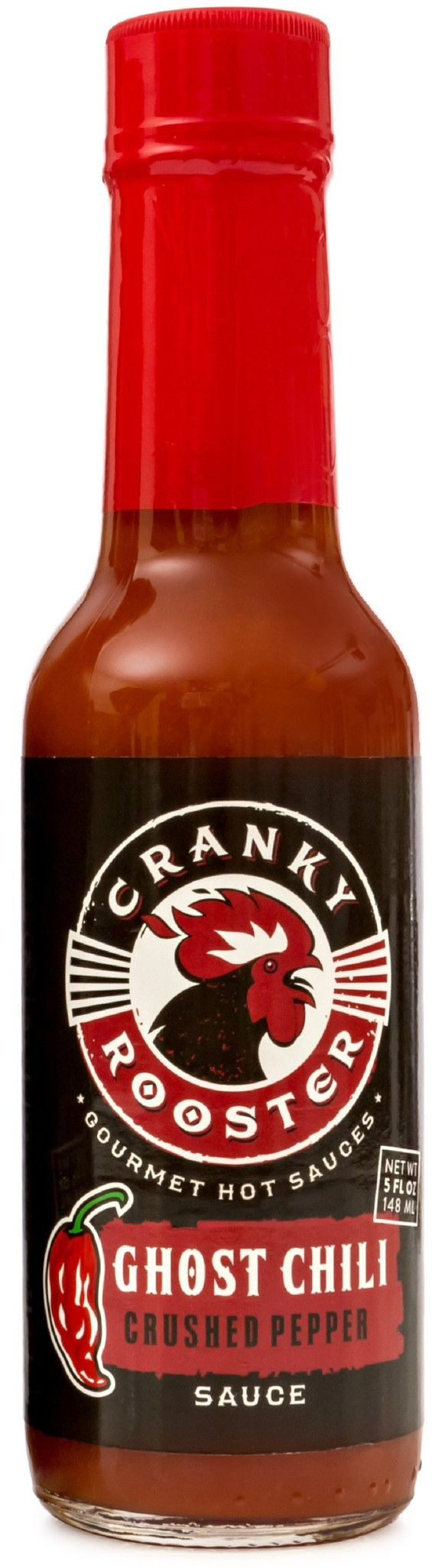 Ghost Pepper (Bhut Jolokia) Hot Sauce by Cranky Rooster