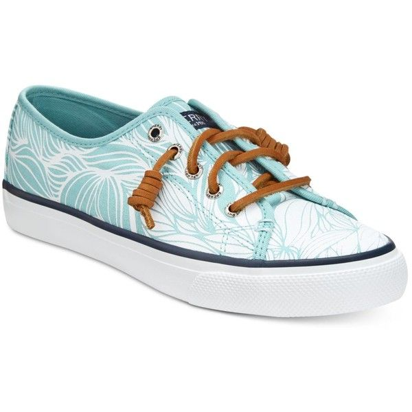 Sperry Women's Seacoast Canvas Sneakers ($60) ❤ liked on Polyvore featuring shoes, sneakers, sperry footwear, preppy shoes, sperry sneakers, sperry and plimsoll shoes