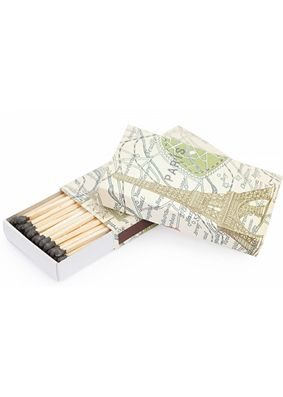 Map of Paris Candle Matches
