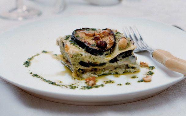 Eggplant Lasagne with Parsley Pesto: Parsley Pesto, Eggplants Recipes, 2000S Recipes, Lasagne Layered, Eggplants Lasagne, Rich Lasagne, Eggplants Lasagna, Recipes Exchange, Healthy Food