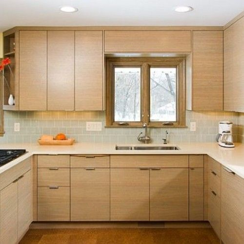Elegant L Shaped Solid Wood Kitchen Cabinets Latest: Impressive Kitchen Design Ideas Using Light Maple Kitchen
