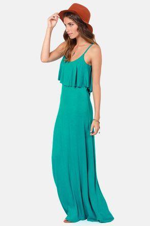 Teal Maxi Dresses