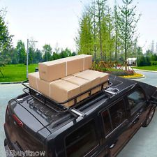 220Lbs Universal Car Top Roof Luggage Cargo Carrier Basket Rack Holder Travel US