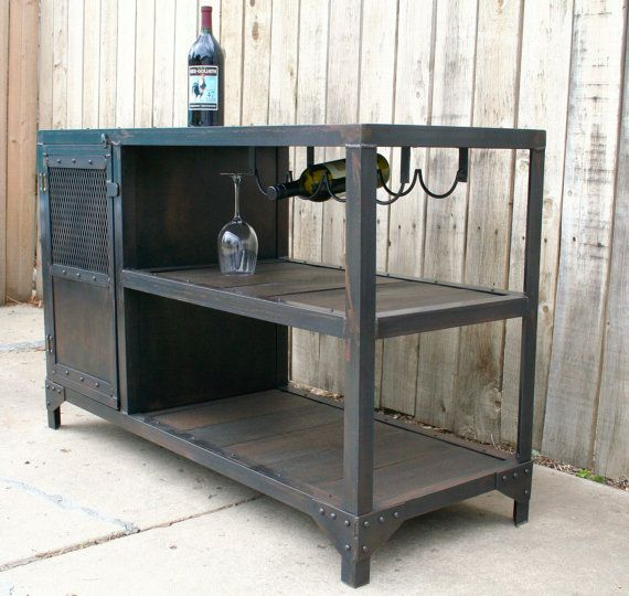 Industrial metal and reclaimed industrial wood table by JReal