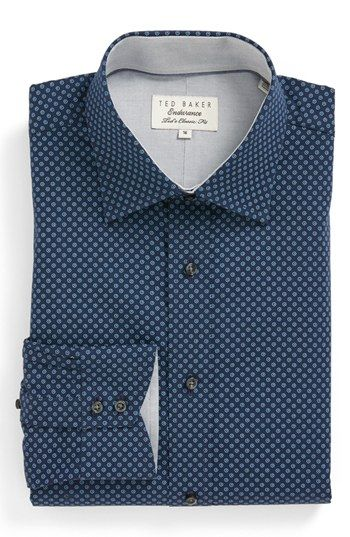 Ted Baker London Classic Fit Dress Shirt available at #Nordstrom