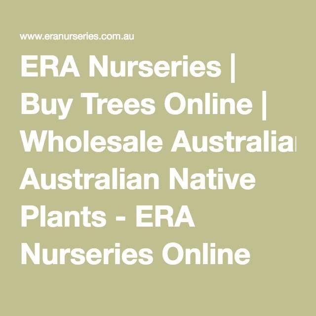 ERA Nurseries | Buy Trees Online | Wholesale Australian Native Plants - ERA Nurseries Online Store